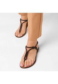 Czarne sandały Aldo casualowe, na co dzień