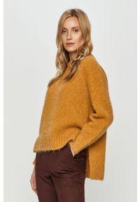 Pomarańczowy sweter Hugo z długim rękawem, długi