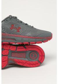 Szare sneakersy Under Armour na sznurówki, do biegania