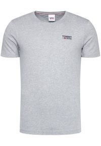 Tommy Jeans T-Shirt Corp Logo C Neck DM0DM09588 Szary Regular Fit. Kolor: szary