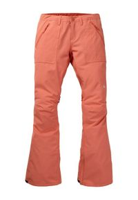 Pomarańczowe spodnie sportowe Burton snowboardowe