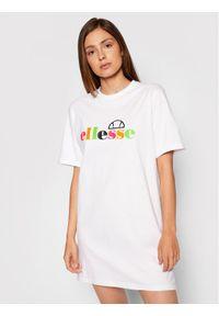 Ellesse Sukienka codzienna Inka SGF10515 Biały Loose Fit. Okazja: na co dzień. Kolor: biały. Typ sukienki: proste. Styl: casual