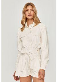 Biała koszula TwinSet gładkie, na co dzień, z długim rękawem, z klasycznym kołnierzykiem