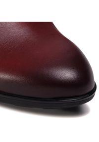 Czerwone botki Gabor na obcasie, na średnim obcasie, z cholewką #6