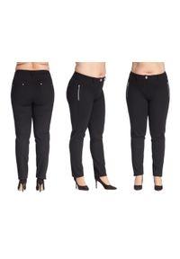 Spodnie Moda Size Plus Iwanek plus size, z aplikacjami, krótkie, na co dzień