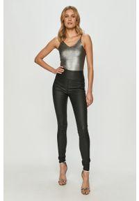 Czarne spodnie materiałowe Pieces z podwyższonym stanem #4