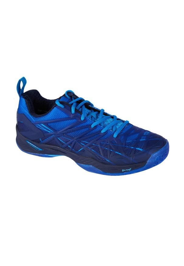 PERFLY - Buty halowe do badmintona BS590 męskie. Kolor: niebieski. Materiał: kauczuk