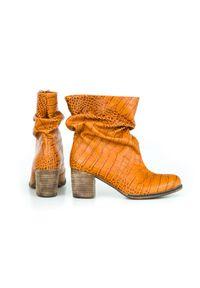 Botki Zapato wąskie, w kolorowe wzory