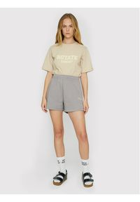 ROTATE T-Shirt Aster RT453 Beżowy Loose Fit. Kolor: beżowy