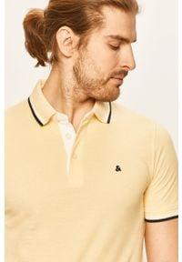 Żółta koszulka polo Jack & Jones na co dzień, polo, krótka, casualowa #5