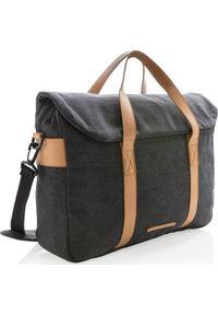 Czarna torba na laptopa XD COLLECTION elegancka