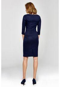 Sukienka z krótkim rękawem, elegancka, midi