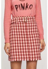 Różowa spódnica Pinko casualowa, na co dzień, z podwyższonym stanem