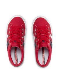 U.S. Polo Assn - Tenisówki U.S. POLO ASSN. - Marty154 MARTY4154S1/CY1 Red. Okazja: na co dzień. Kolor: czerwony. Materiał: materiał, skóra. Styl: casual