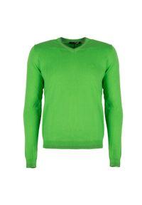 Sweter Roberto Cavalli z dekoltem w kształcie v, na co dzień