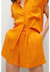 mango - Mango - Szorty LIM. Okazja: na co dzień. Kolor: pomarańczowy. Materiał: materiał, włókno. Styl: casual