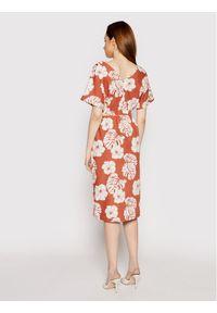Roxy Sukienka codzienna Sunny Memories ERJWD03562 Pomarańczowy Regular Fit. Okazja: na co dzień. Kolor: pomarańczowy. Typ sukienki: proste. Styl: casual