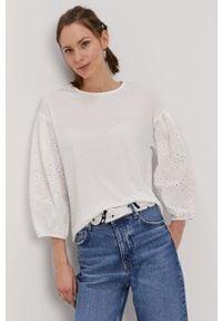 Biała bluzka Jacqueline de Yong casualowa, gładkie, na co dzień