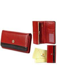 Krenig - Skórzany portfel damski KRENIG Scarlet 13026 czerwony. Kolor: czerwony. Materiał: skóra