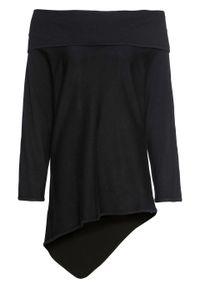 Czarny sweter bonprix z kołnierzem typu carmen