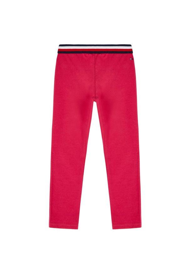 Różowe legginsy TOMMY HILFIGER