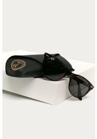 Brązowe okulary przeciwsłoneczne Ray-Ban okrągłe