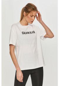 Biała bluzka Calvin Klein Performance casualowa, na co dzień, z nadrukiem