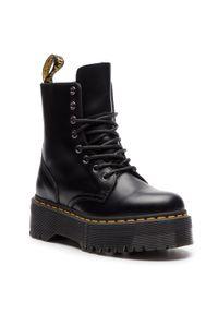 Czarne buty zimowe Dr. Martens klasyczne, z cholewką