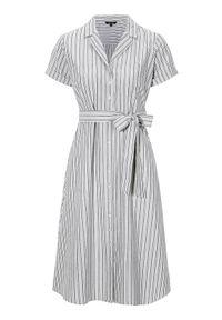 Sukienka mini Happy Holly w paski, z krótkim rękawem, szmizjerki