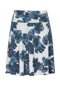 Cellbes Wzorzysta spódnica z dżerseju niebieski w kwiaty female niebieski/ze wzorem 46/48. Kolor: niebieski. Materiał: jersey. Wzór: kwiaty