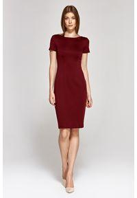 Czerwona sukienka Nife z krótkim rękawem