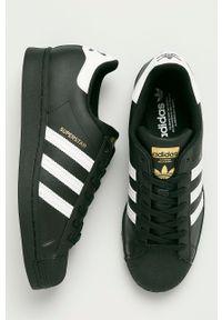 adidas Originals - Buty skórzane Superstar. Nosek buta: okrągły. Zapięcie: sznurówki. Kolor: czarny. Materiał: skóra. Model: Adidas Superstar