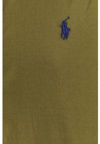 Polo Ralph Lauren - Koszula bawełniana. Okazja: na co dzień. Typ kołnierza: polo. Kolor: zielony. Materiał: bawełna. Długość rękawa: krótki rękaw. Długość: krótkie. Styl: casual