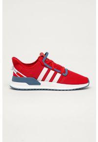 Czerwone sneakersy adidas Originals z cholewką, do biegania