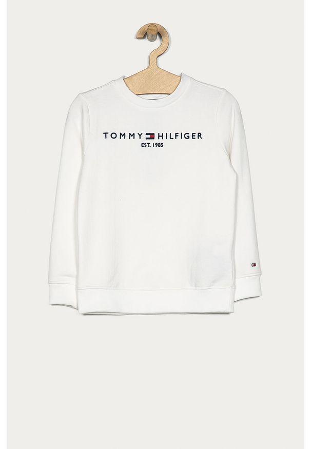 Biała bluza TOMMY HILFIGER z aplikacjami, na co dzień, casualowa, bez kaptura