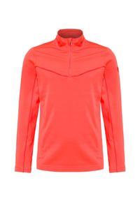 Pomarańczowa bluza Descente krótka, z golfem