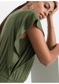 Zielona sukienka bonprix z dekoltem w serek, na lato