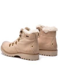 Beżowe buty trekkingowe Lasocki z cholewką