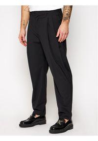 Czarne spodnie materiałowe MSGM