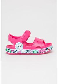 Różowe sandały Coqui na rzepy