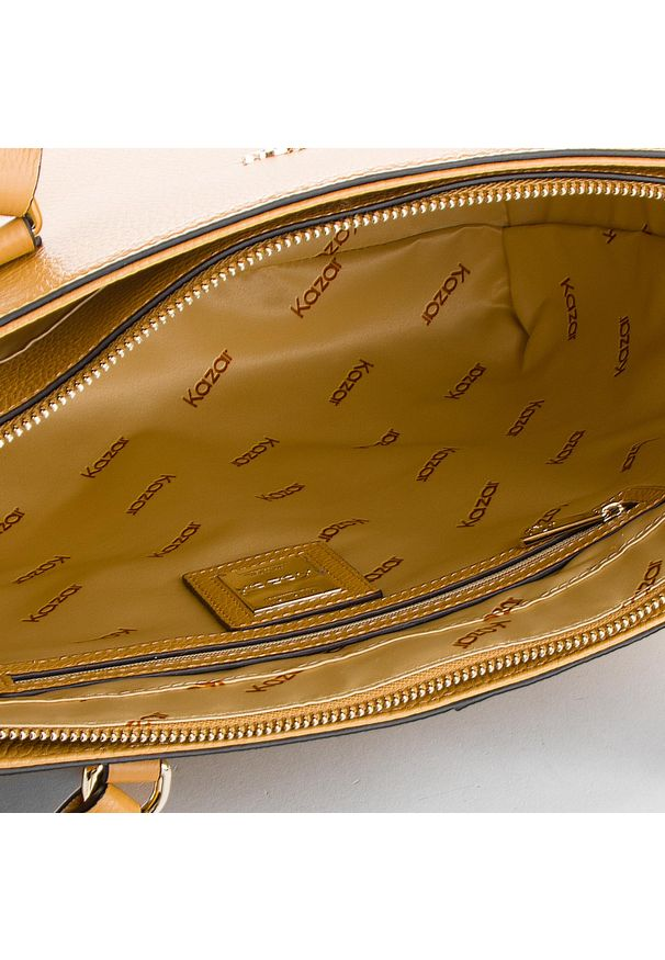 Brązowa torebka klasyczna Kazar klasyczna