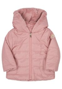 Różowa kurtka Mayoral na zimę