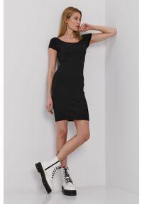 Czarna sukienka only na co dzień, casualowa, mini