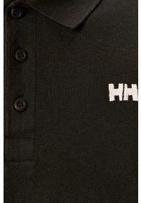 Czarna koszulka polo Helly Hansen casualowa, krótka, polo