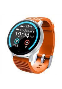 Pomarańczowy zegarek LENOVO klasyczny, smartwatch