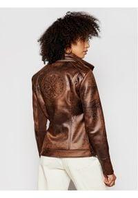 Desigual Kurtka przejściowa Carnaby Street 21SWEW05 Brązowy Regular Fit. Kolor: brązowy. Styl: street