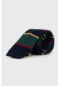 Polo Ralph Lauren - Krawat wełniany. Kolor: niebieski. Materiał: wełna