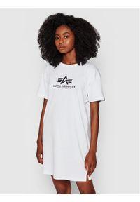 Alpha Industries Sukienka codzienna Basic 116055 Biały Regular Fit. Okazja: na co dzień. Kolor: biały. Typ sukienki: proste. Styl: casual