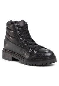 Czarne buty trekkingowe Sergio Bardi z cholewką, klasyczne