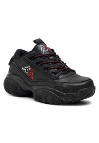 Kappa - Sneakersy KAPPA - Bolb 242938 Black/White 11110. Okazja: na co dzień, na spacer. Kolor: czarny. Materiał: skóra ekologiczna, materiał. Szerokość cholewki: normalna. Sezon: lato. Styl: casual